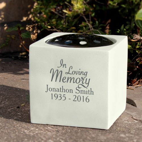 Personalised In Loving Memory Memorial Vase